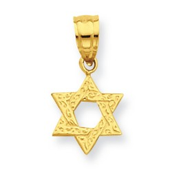 Solid 14k Yellow Gold Mini Star of David Pendant 9x9mm  *** MADE IN USA