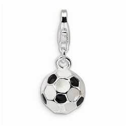 Small Vintage Soccer Ball 3-D Charm By Amore La Vita