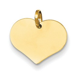 14k Yellow Gold Heart Charm 12x15 mm 0.54 gr *** Made in ITALY
