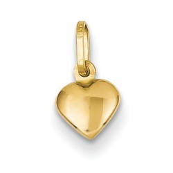 14k Yellow Gold Small Heart Charm 5x5 mm 0.1 gr *** Made in ITALY