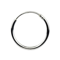 14mm Endless Hoop Earrings 925 Sterling Silver