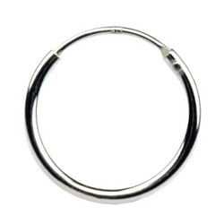 18mm Endless Hoop Earrings 925 Sterling Silver