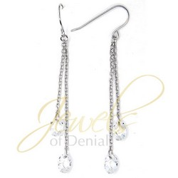 CZ Dangle Earrings in 925 Sterling Silver