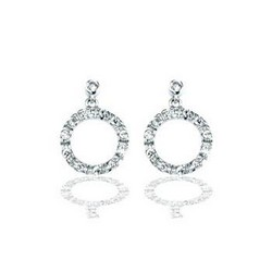 Circle Earrings in 925 Sterling Silver