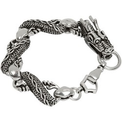 Dragon Bracelet in Sterling Silver