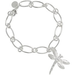 Dragon Fly Charm Bracelet in Sterling Silver