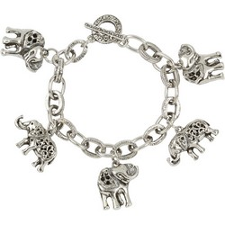 Elephant Bracelet in Sterling Silver