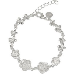 Flower Bracelet Roses in Sterling Silver