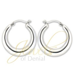Graduated Hoop Earrings in 925 Sterling Silver