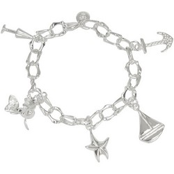 Nautical Charm Bracelet in Sterling Silver