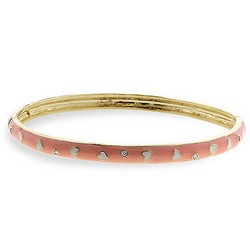 Peach Bangle Bracelet in 14k Gold Plating
