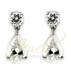 Pear Drop Earrings in 925 Sterling Silver