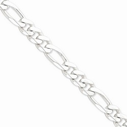10.75 mm Figaro Chain in 925 Sterling Silver