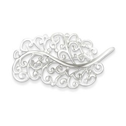 Filigree Leaf Pin in 925 Sterling Silver
