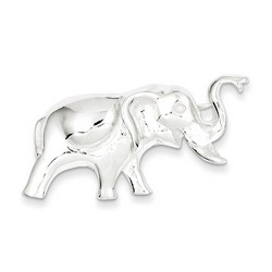 Elephant Pin in 925 Sterling Silver