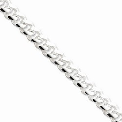 10.5 mm Domed Curb Chain in 925 Sterling Silver