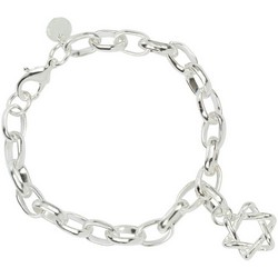 Star of David Bracelet in Sterling Silver