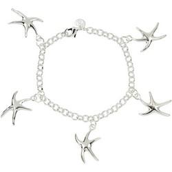 Starfish Nautical Bracelet in Sterling Silver