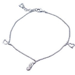 Wings of Love Charm Bracelet Sterling Silver