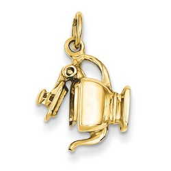 14k Yellow Gold 3-D Tea Pot Charm 14x14 mm 2.69 gr *** Made in USA