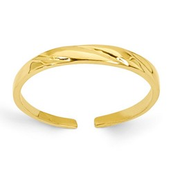 14k Yellow Gold Fancy Pattern Adjustable Toe Ring