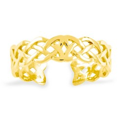 14k Yellow Gold Medium Celtic Knot Adjustable Toe Ring