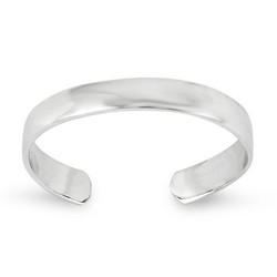 14k White Gold Plain High Polished Adjustable Toe Ring