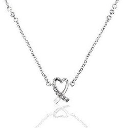 Heart Necklace Pendant with Chain 925 Sterling Silver