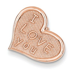 14k Rose Gold I Love You Heart Charm 16x16 mm 0.91 gr *** Made in USA