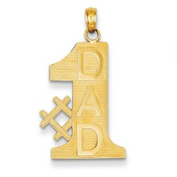 14k Yellow Gold #1 Dad Charm 23x15 mm 1.63 gr *** Made in USA