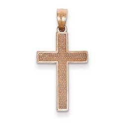 14k Rose Gold Latin Cross Pendant 22 x 14 mm *** MADE IN USA