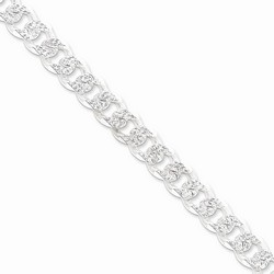 10.5 mm Pave Curb Chain Chain in 925 Sterling Silver