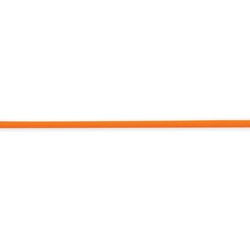 16 inch 2mm Tangerine Rubber Cord Necklace in 925 Sterling Silver