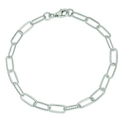 10 Inch Braided And Polished Link Anklet In 925 Sterling Silver