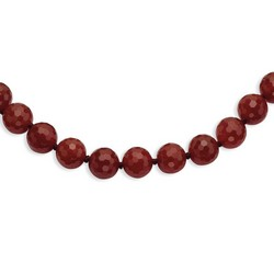 10-10.5mm Faceted Carnelian Necklace