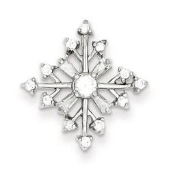 CZ Snowflake Slide in 925 Sterling Silver