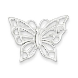 Butterfly Pin in 925 Sterling Silver