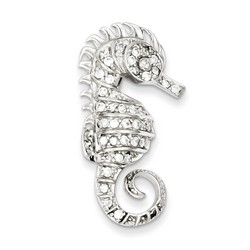 CZ Seahorse Pin in 925 Sterling Silver