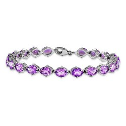 Amethyst Bracelet in 12.21 gr. 925 Sterling Silver 14.5 ct Gemstone