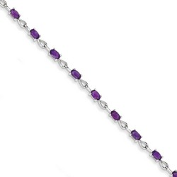 Amethyst Bracelet in 3.79 gr. 925 Sterling Silver 2.95 ct Gemstone