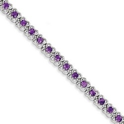 Amethyst Bracelet in 17.35 gr. 925 Sterling Silver 4.36 ct Gemstone